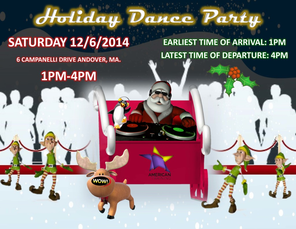 holiday dance flyer party