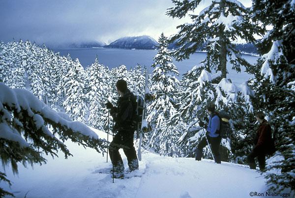 SNOWSHOEING-HIKERS